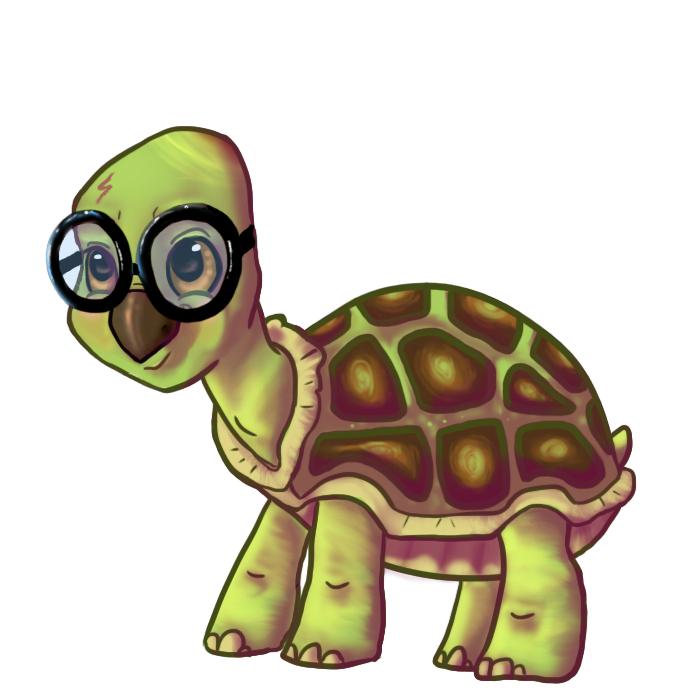 Eyeglasses clipart harry potter. Cartoon turtle with glasses