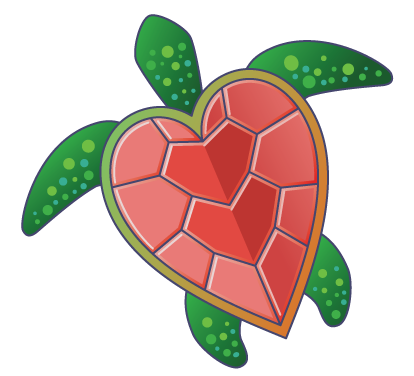 Clipart turtle heart. Love turtles valentines art