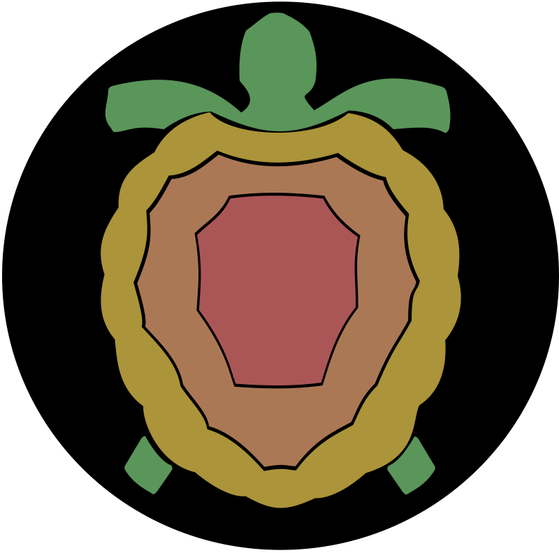 Tortoise rock clipground. Clipart turtle house