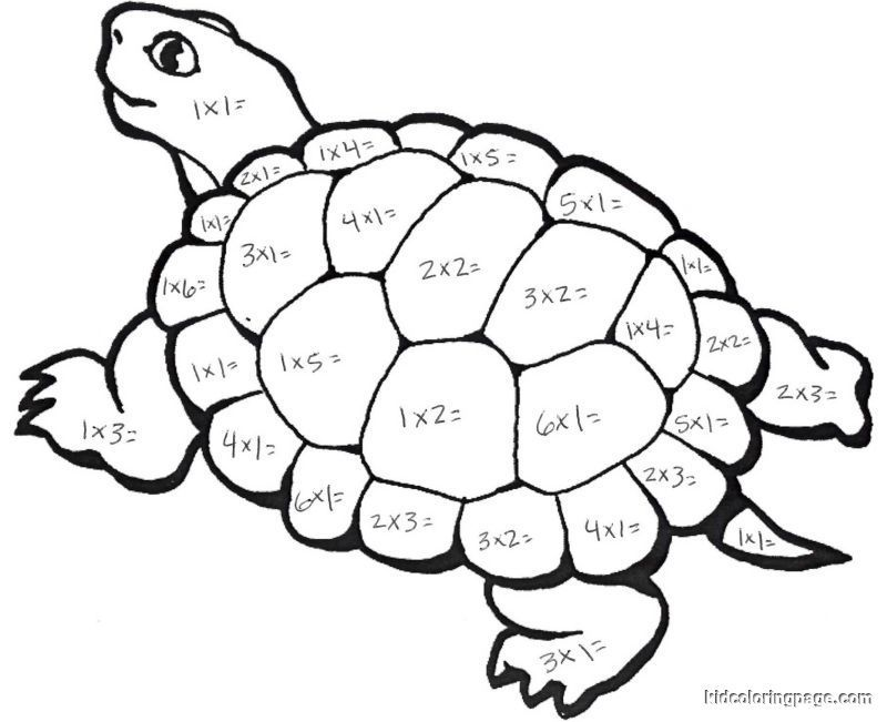Free coloring pages download. Clipart turtle math