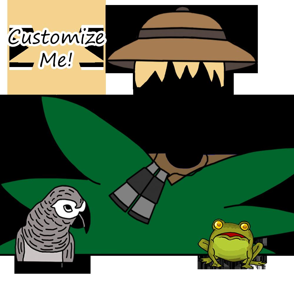 Jungle or safari birthday. Clipart turtle run