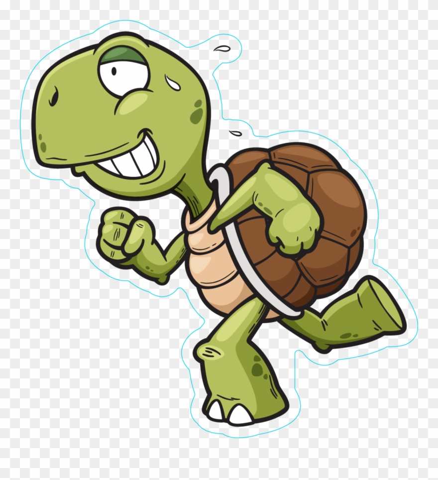 Running animated png . Clipart turtle run