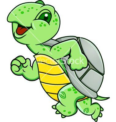 Running vector on vectorstock. Clipart turtle run