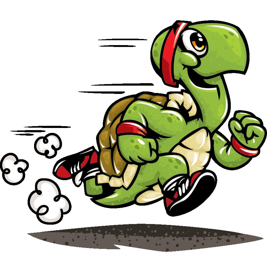 Runningturtles com running fitness. Clipart turtle run