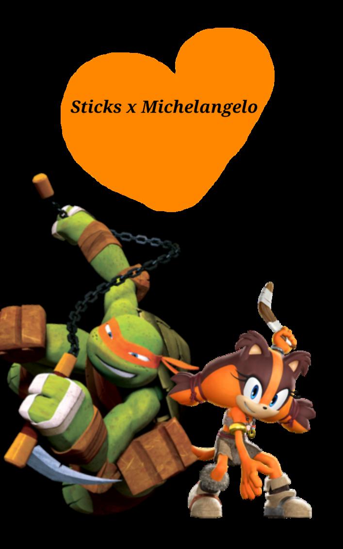 Clipart turtle shadow. Sticks x michelangelo a