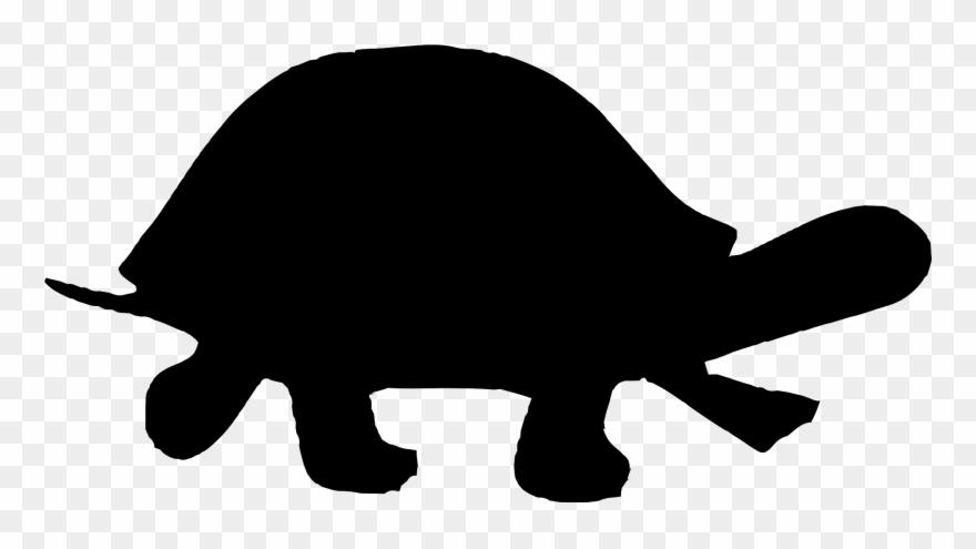 Animal silhouettes alligators . Clipart turtle silhouette