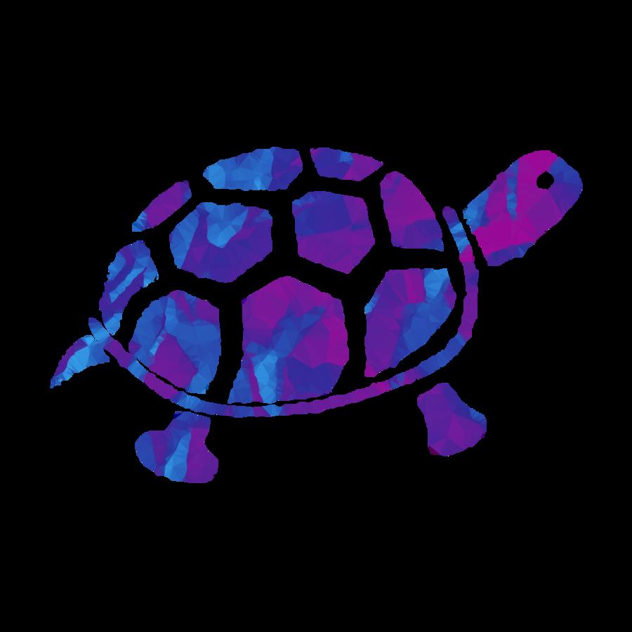 Sea background blue purple. Clipart turtle spotted turtle