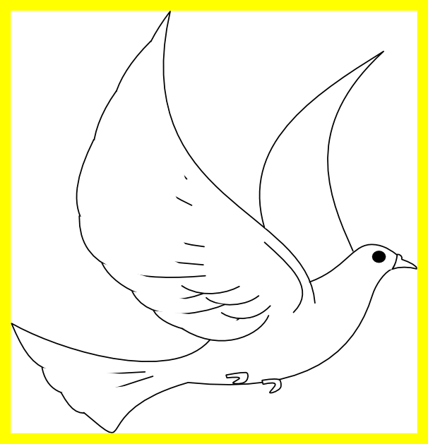 Awesome turtle dove template. Peace clipart confirmation