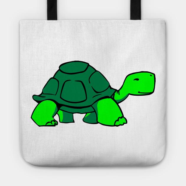 Chill cartoon turtle . Clipart walking tortoise