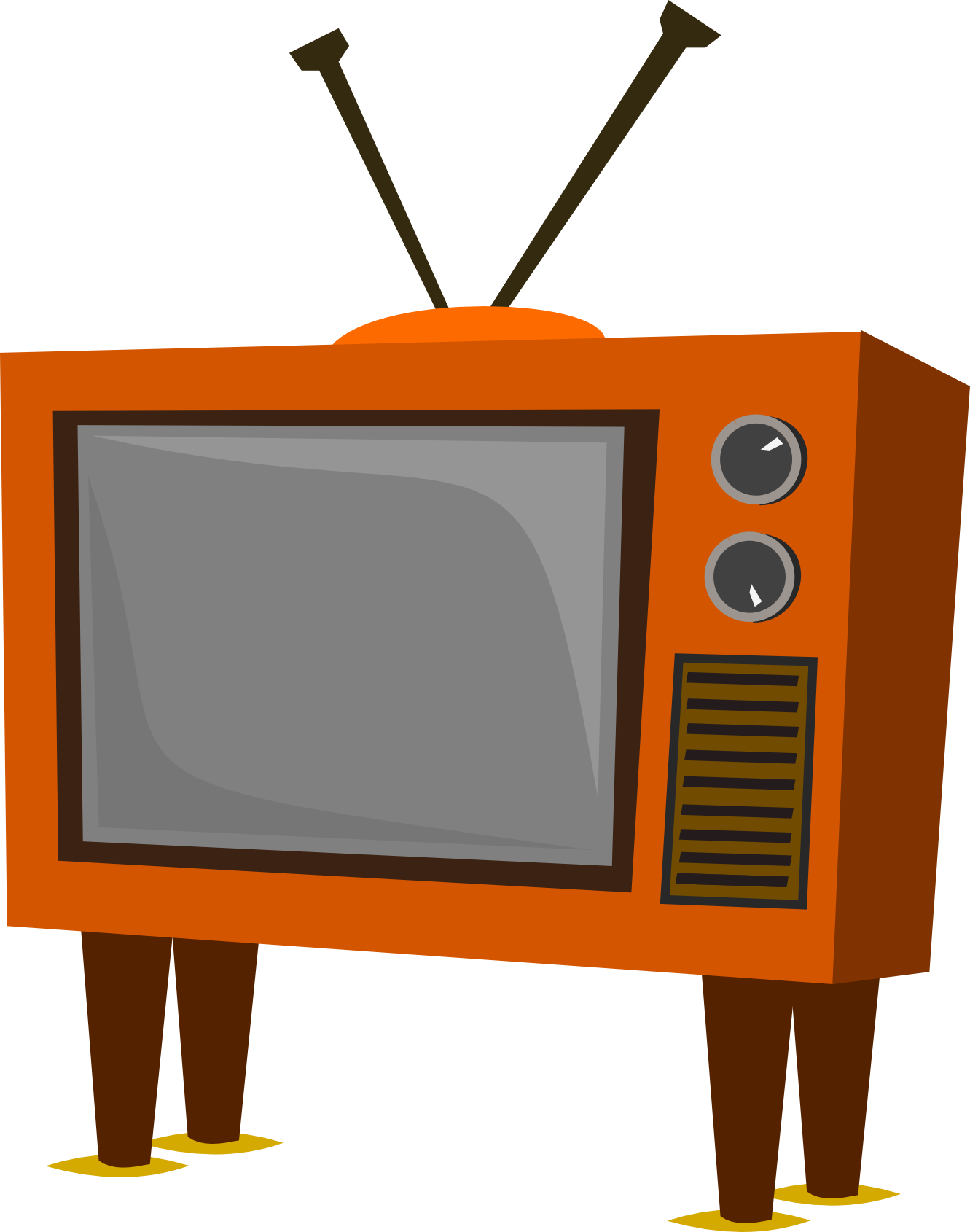 Television panda free images. Clipart tv