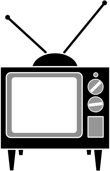 Clipart tv. Old