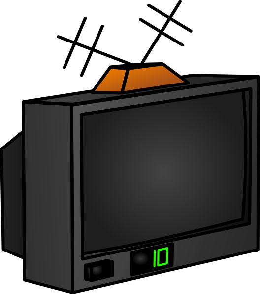 Tv clip art at. Electronics clipart electronic media