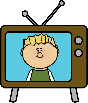 Tv clip art images. Television clipart
