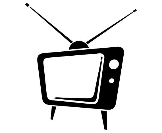 Television clipart vector. Tv vintage retro old