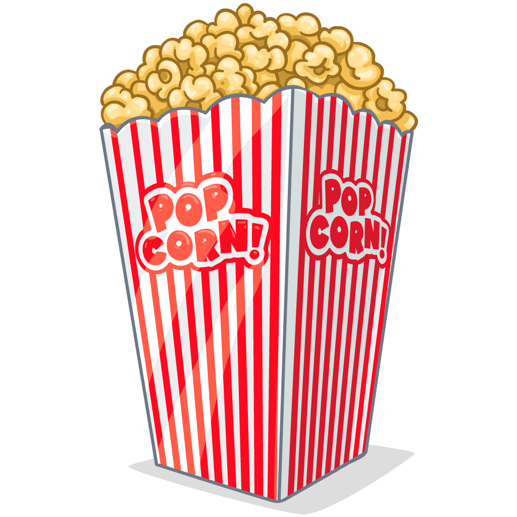 Png images free download. Clipart tv and popcorn
