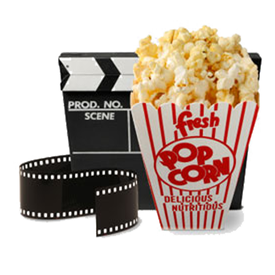 Popcorn white background images. Movies clipart movie snack