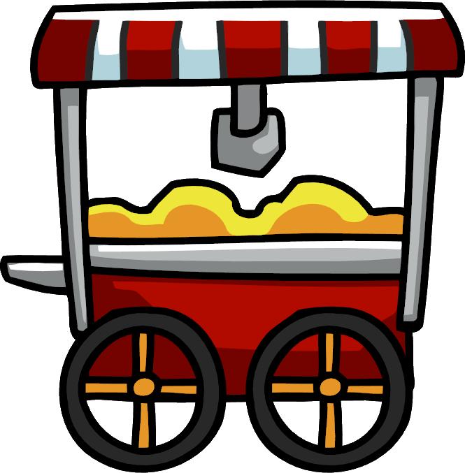 Cart scribblenauts wiki fandom. Clipart tv and popcorn