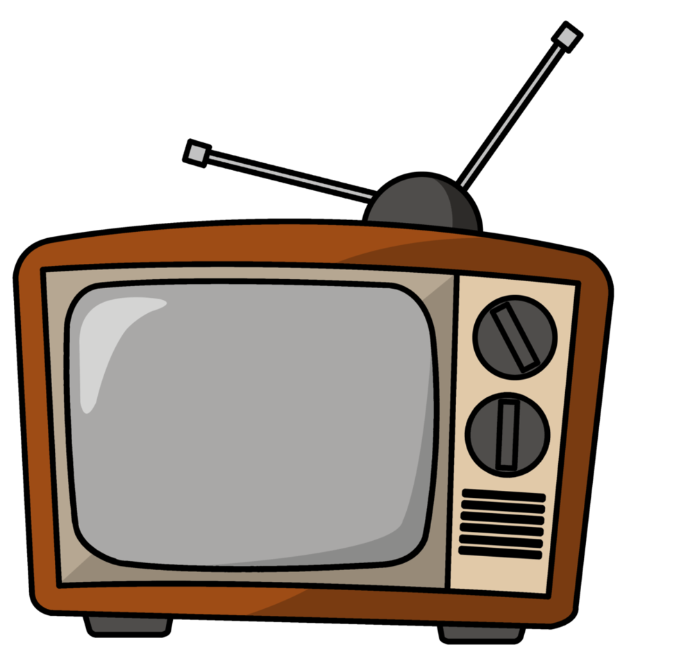 Television clipart back tv. Home turn the clock