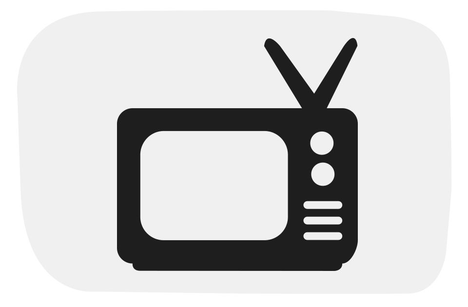 Square clipart television. Social tv magazine subscribe