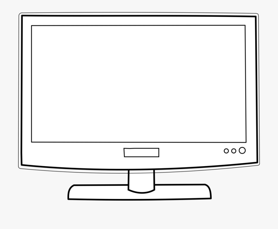 Lunchbox clipart table monitor. Color television black and