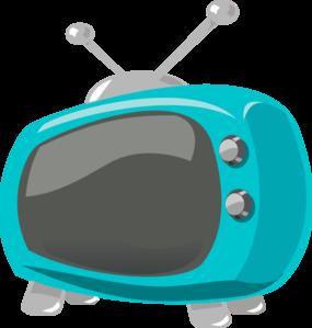 Television clipart blue tv. Retro clip art at