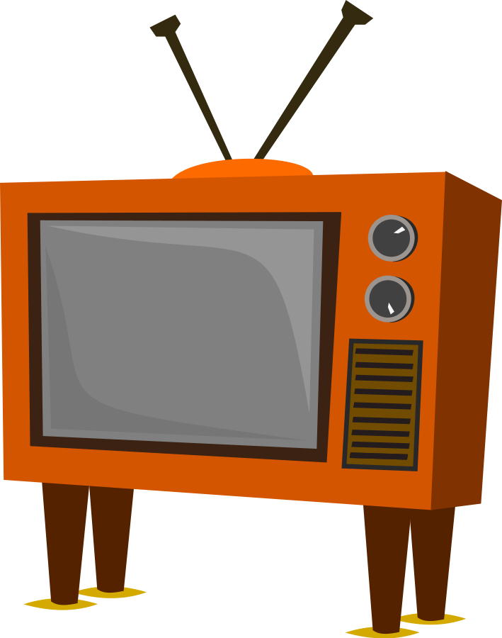 The evolution of on. Television clipart crt tv