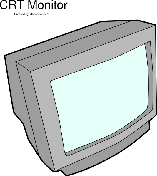 television clipart heavy object