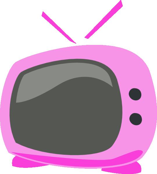 Pink clip art at. Television clipart cartoon tv