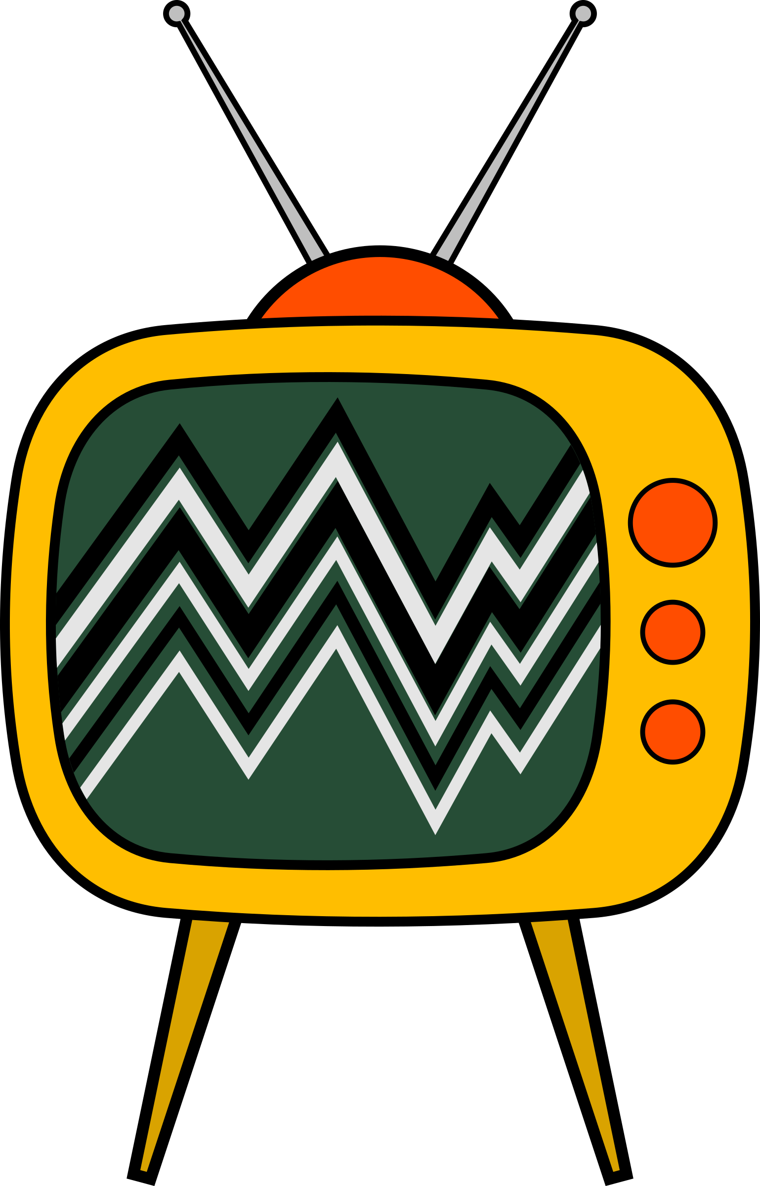 News clipart television news. Old tv cartoon big