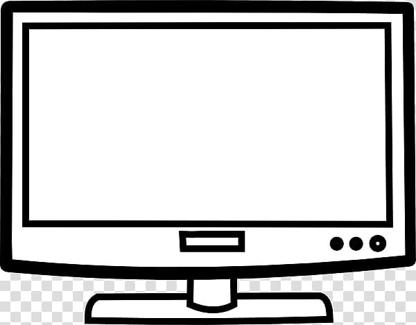 Clipart tv coloring book. Television black and white