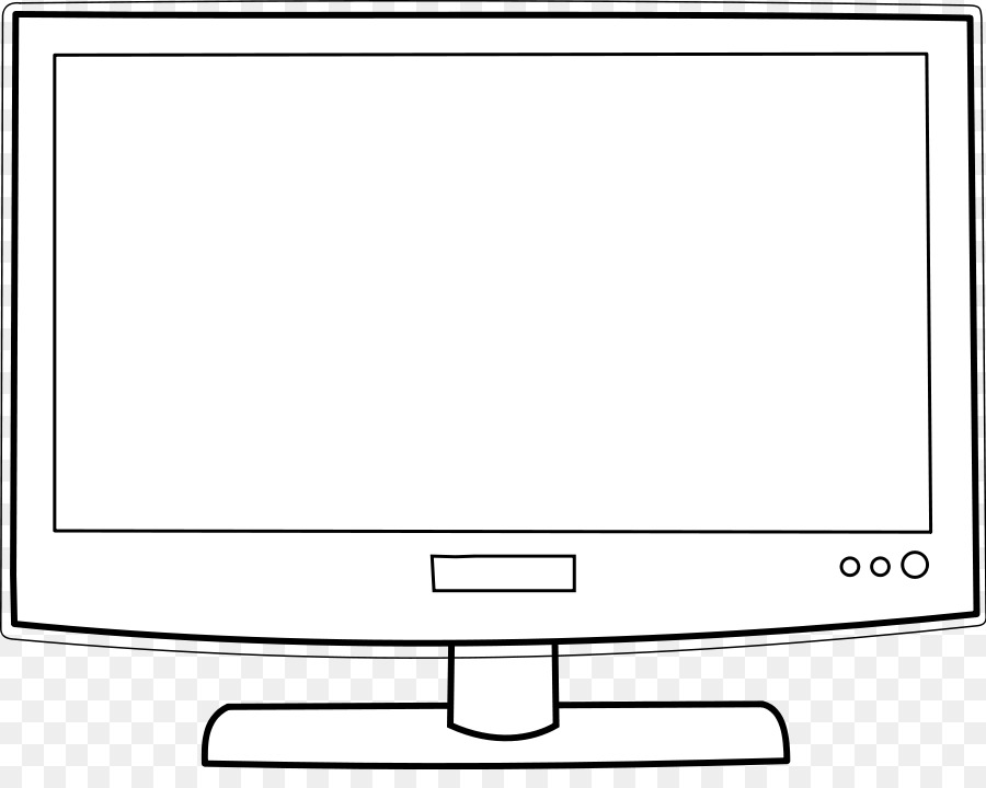Download free png television. Clipart tv coloring book