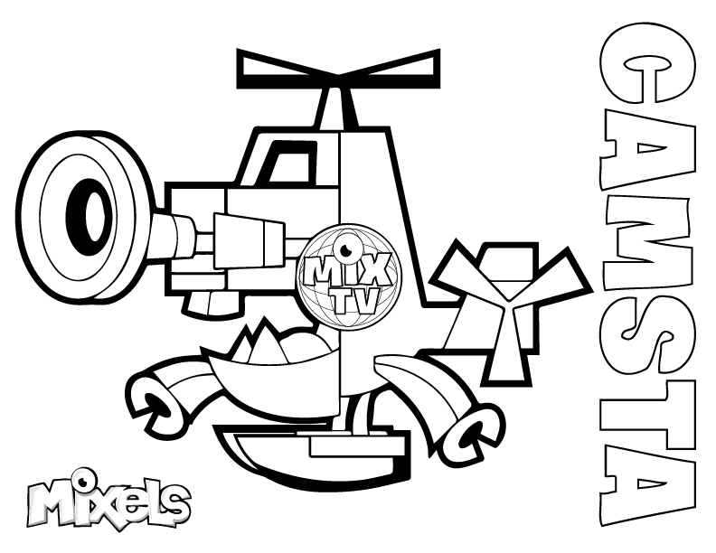 mixel coloring page | my little corner | Super coloring pages ... | 612x792