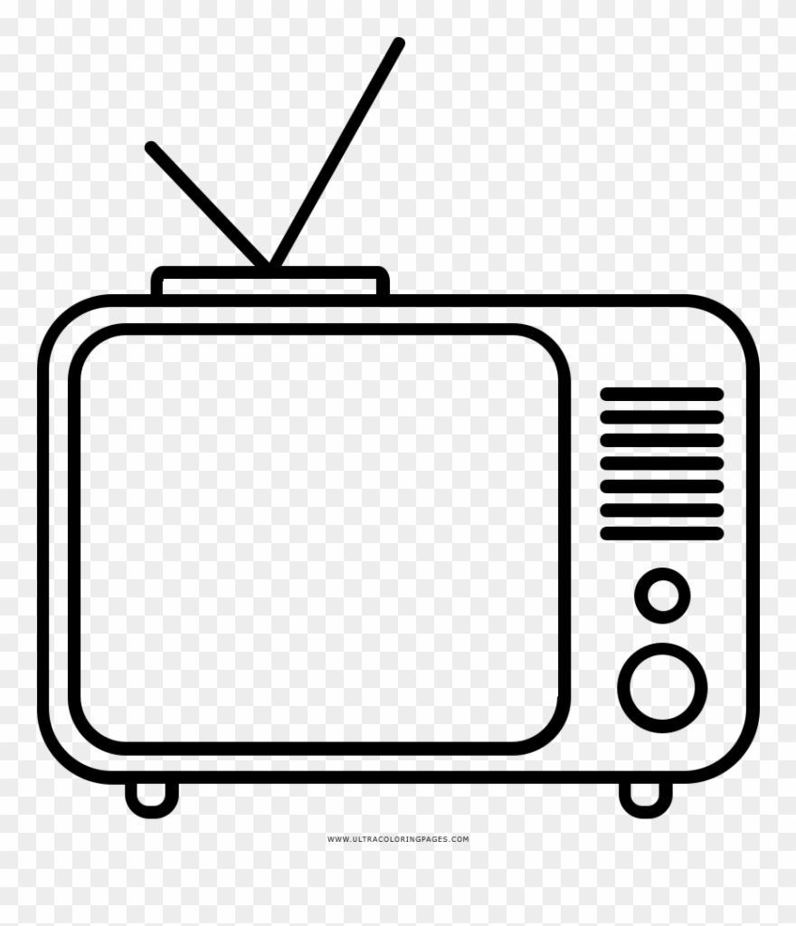 Tv coloring ultra pages. Television clipart colouring page