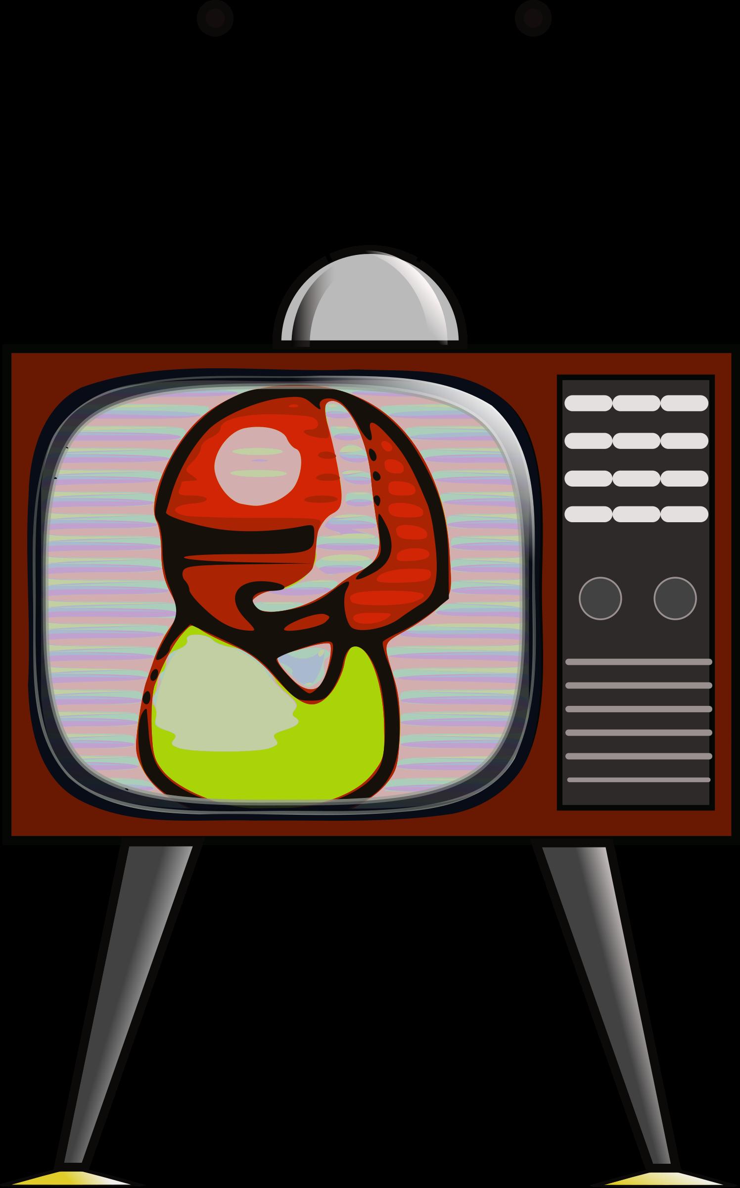 Television clipart colour tv. Big image png
