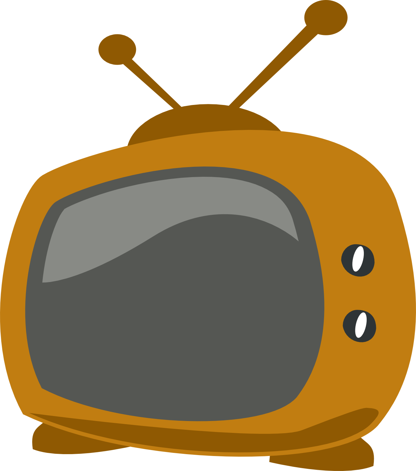 Television clipart coloring. Cartoon tv book panda