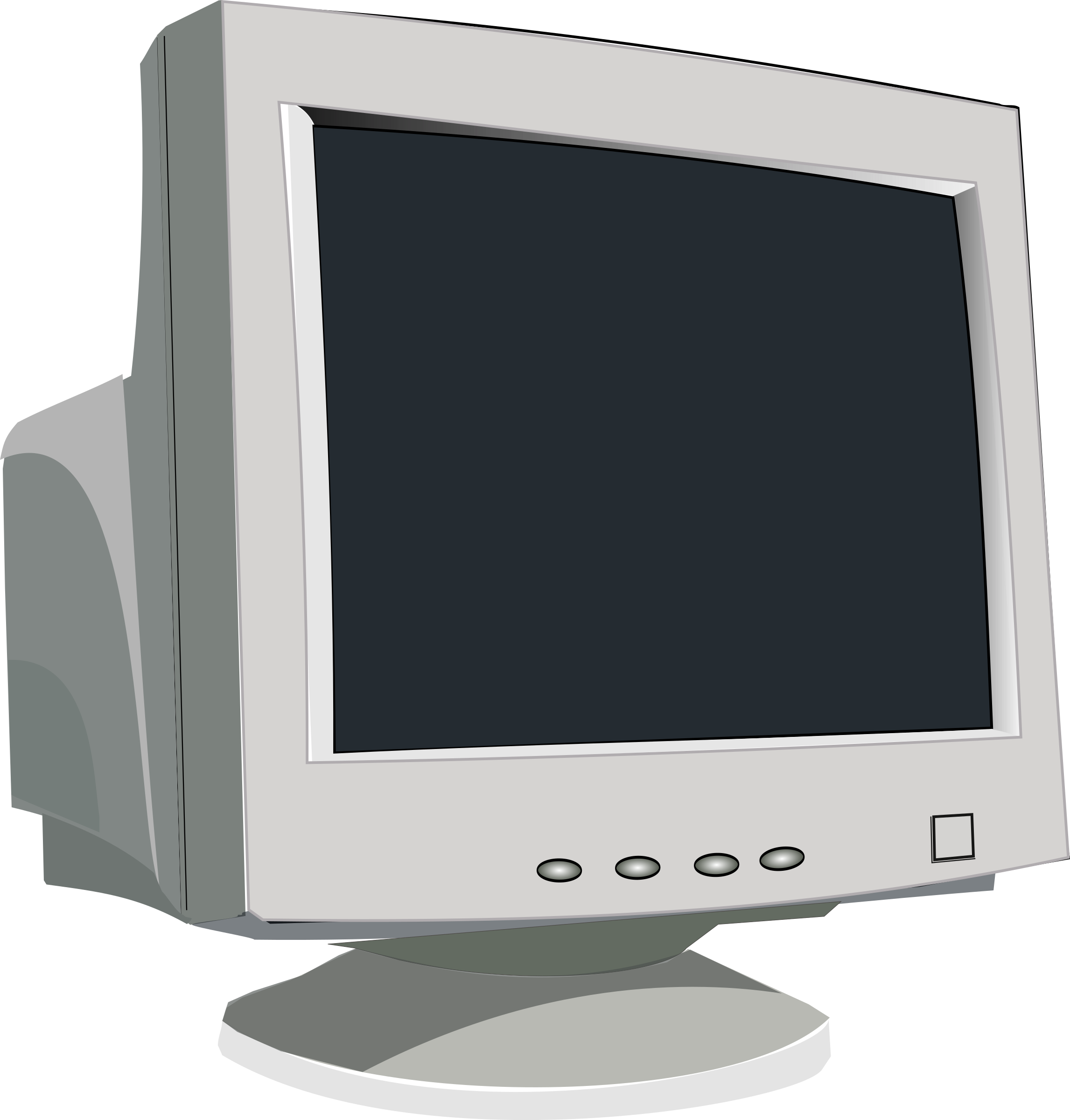Office clipart monitor. Old crt big image