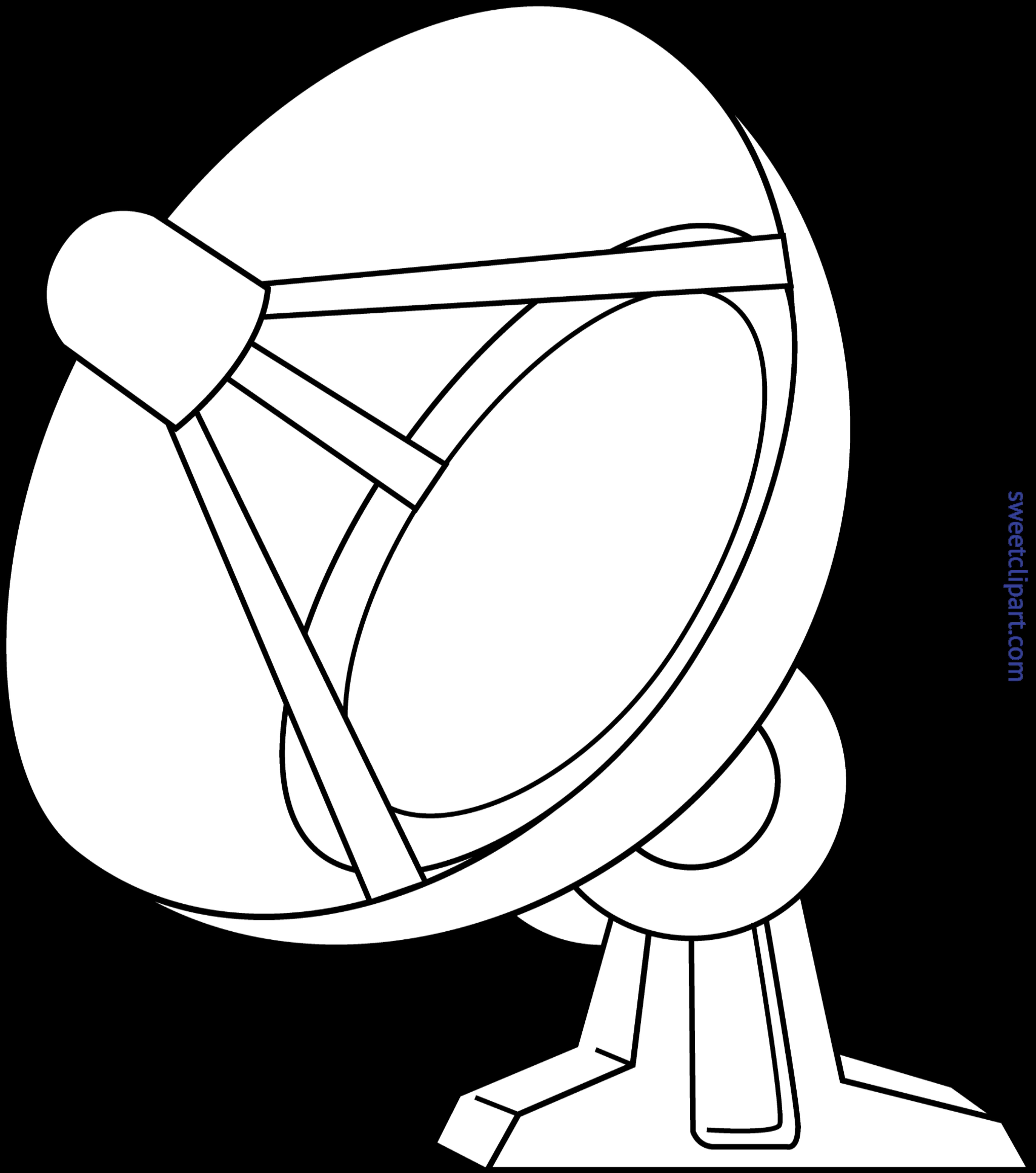 Clipart tv drawing. Satellite dish at getdrawings