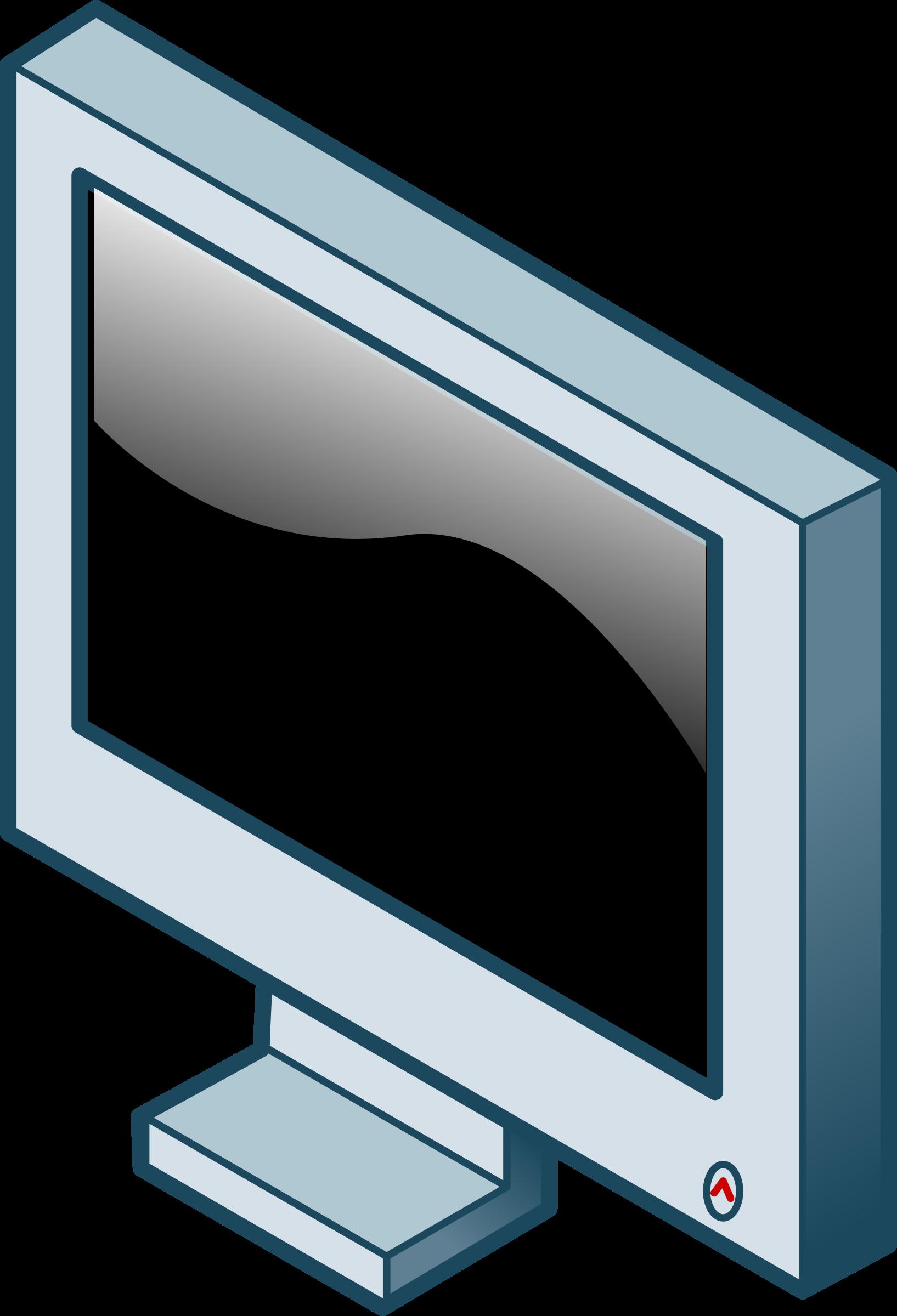 Clipart tv drawing. Isometric lcd screen big