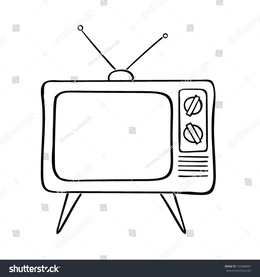 Download old illustration clip. Clipart tv drawing