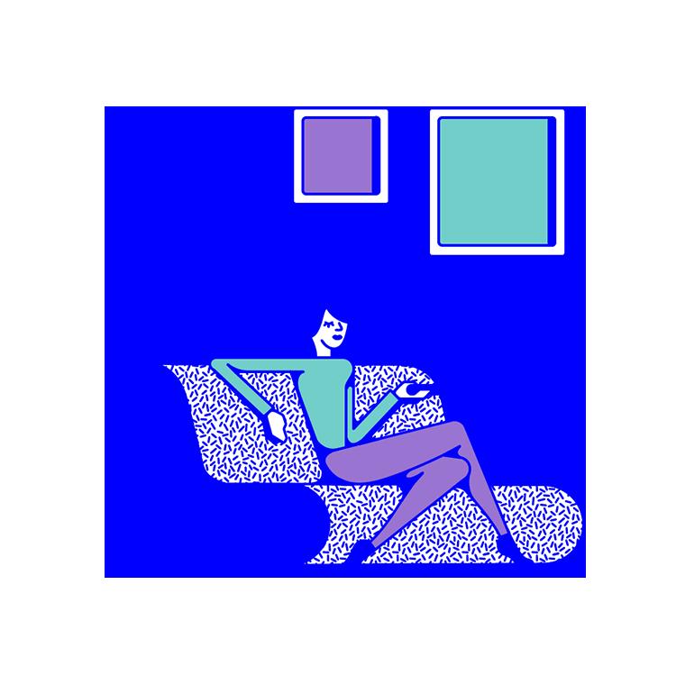 Television clipart blue tv. Flat design clip art