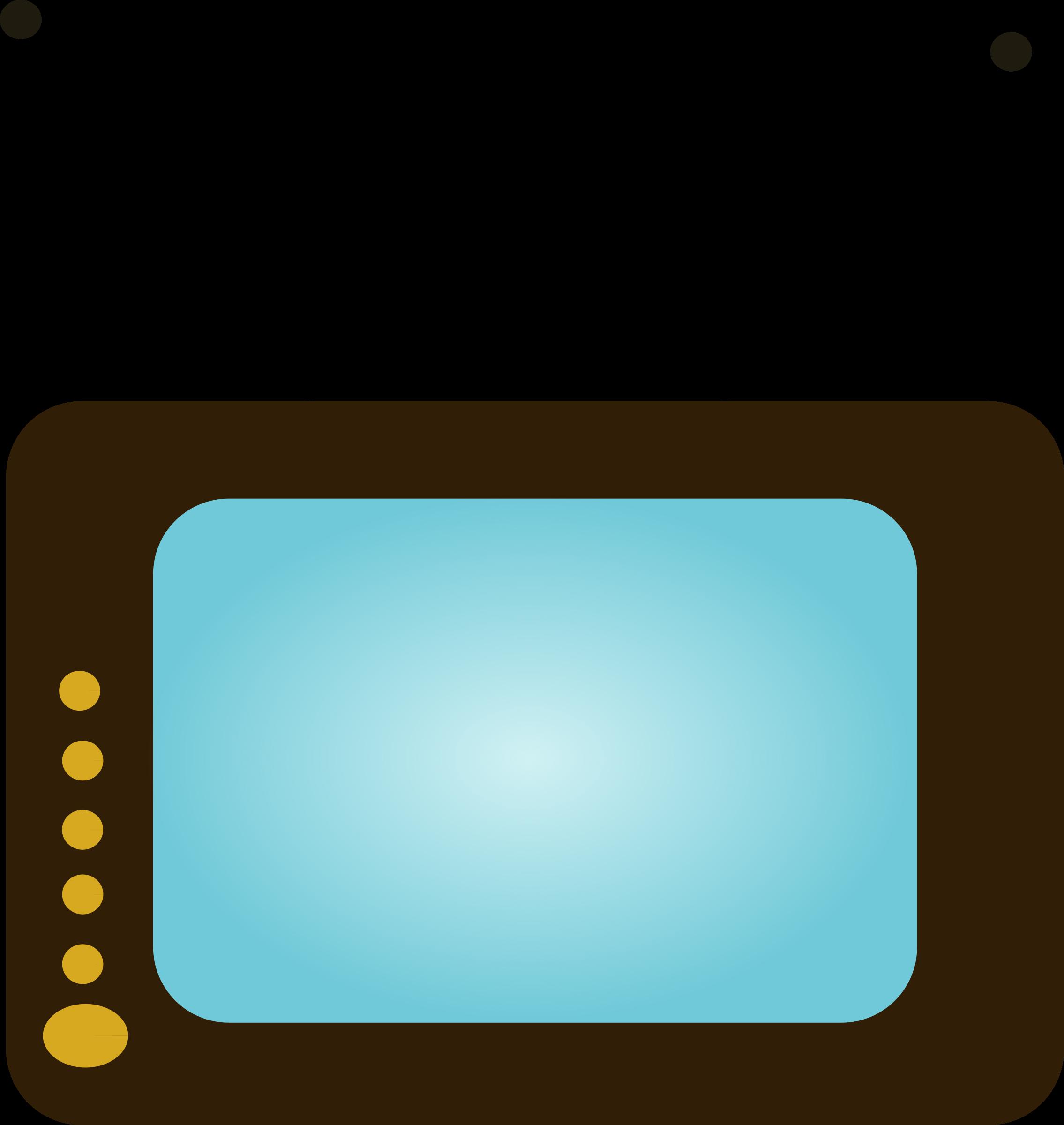 Set big image png. Television clipart blue tv