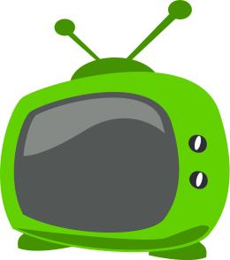 Television clipart green. Cartoon tv recreation entertainment