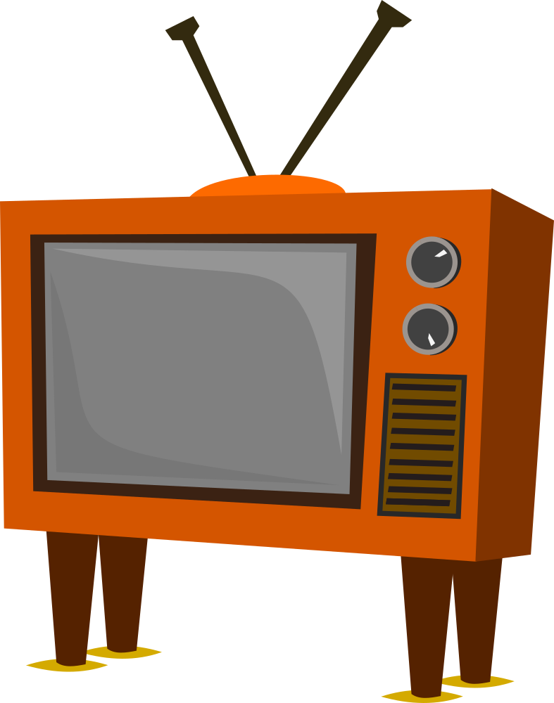 Television clipart blue tv. Onlinelabels clip art funky