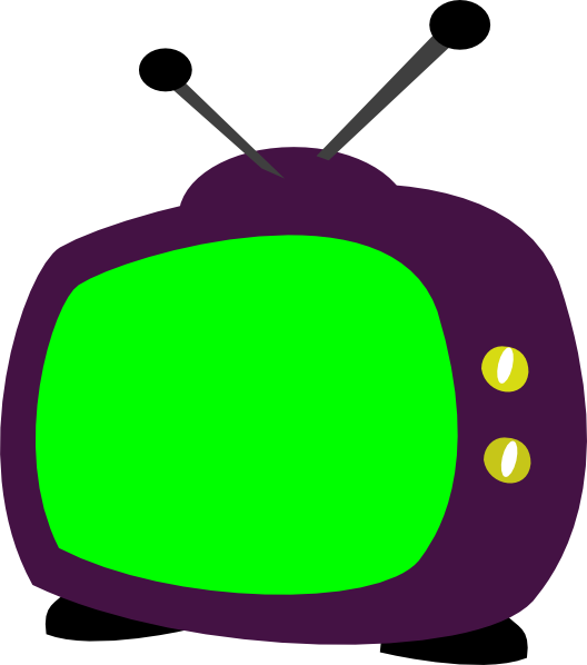 Television clip art at. Clipart tv illustration