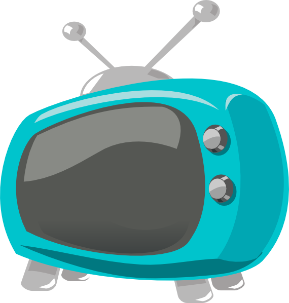 Electronics clipart style. Television comic clip art