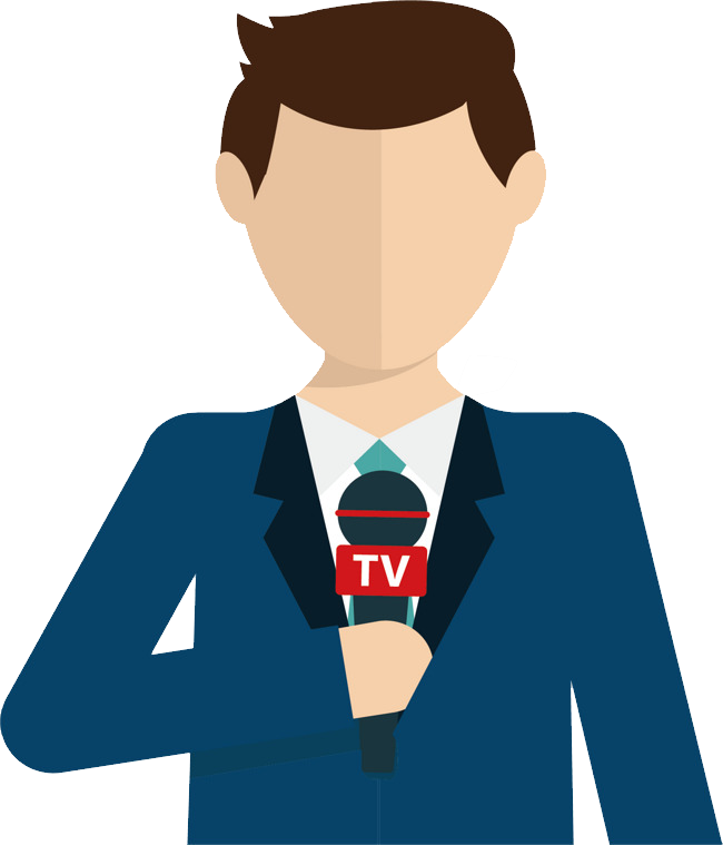 Reporter png images free. Clipart tv journalist