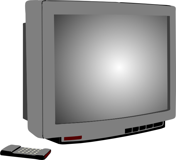 Television clipart small tv. Clip art at clker
