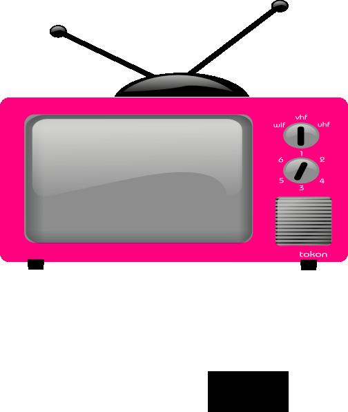 Big pink clip art. Clipart tv large