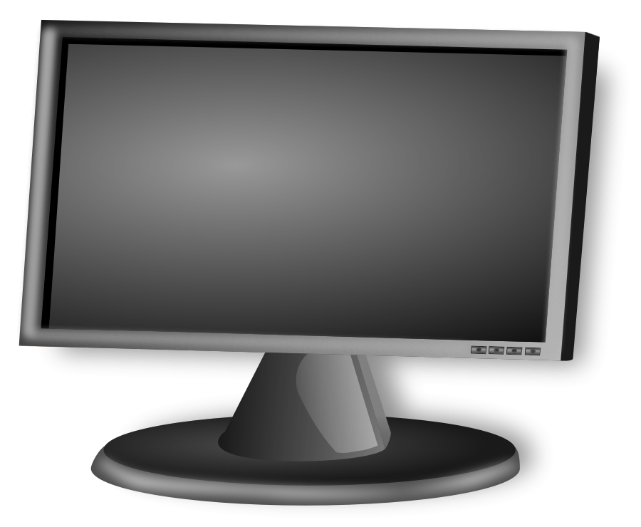 Screen . Clipart tv large