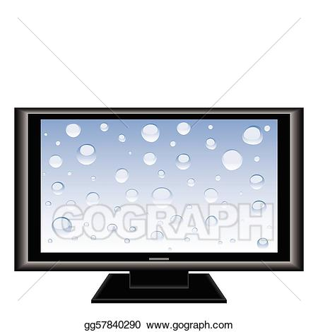 Clipart tv large. Vector stock illustration gg